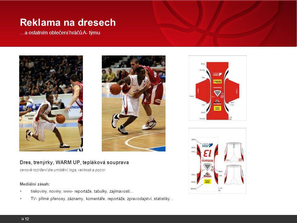 Reklama na dresech …a ostatním oblečení hráčů A- týmu