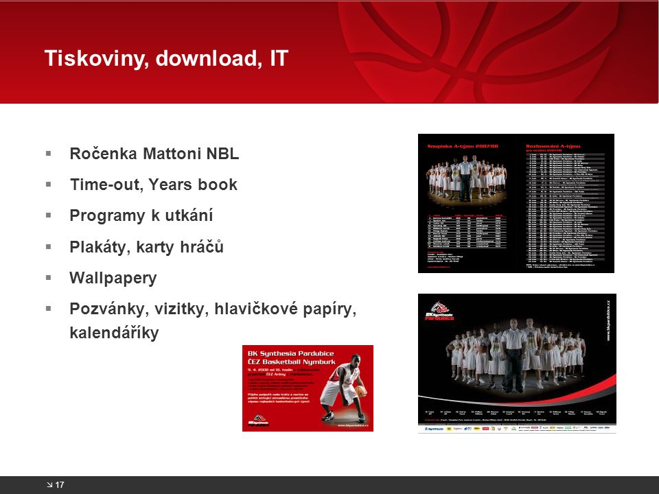 Tiskoviny, download, IT Ročenka Mattoni NBL Time-out, Years book