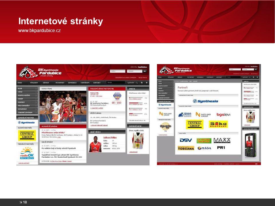 Internetové stránky www.bkpardubice.cz