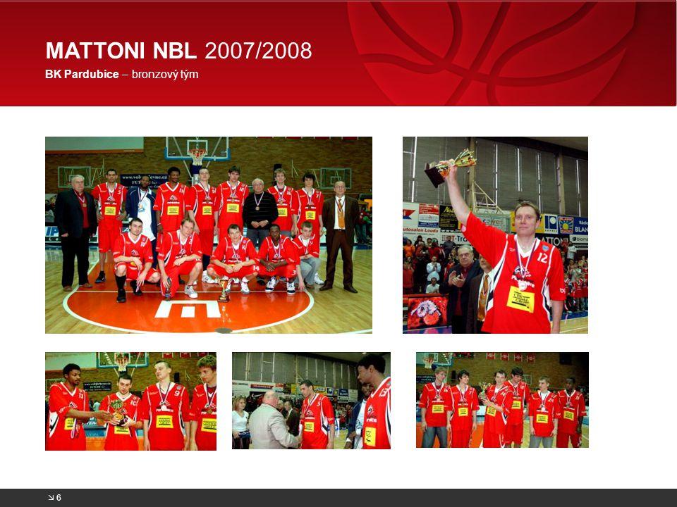 MATTONI NBL 2007/2008 BK Pardubice – bronzový tým