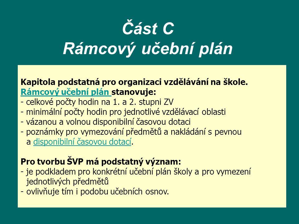 Část C Rámcový učební plán