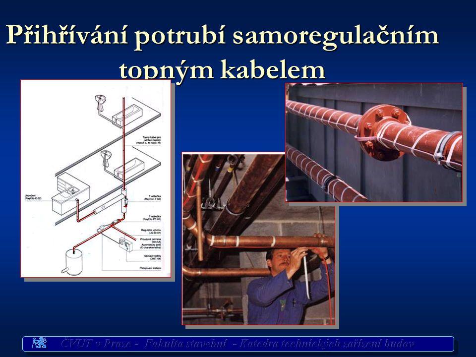 Přihřívání potrubí samoregulačním topným kabelem