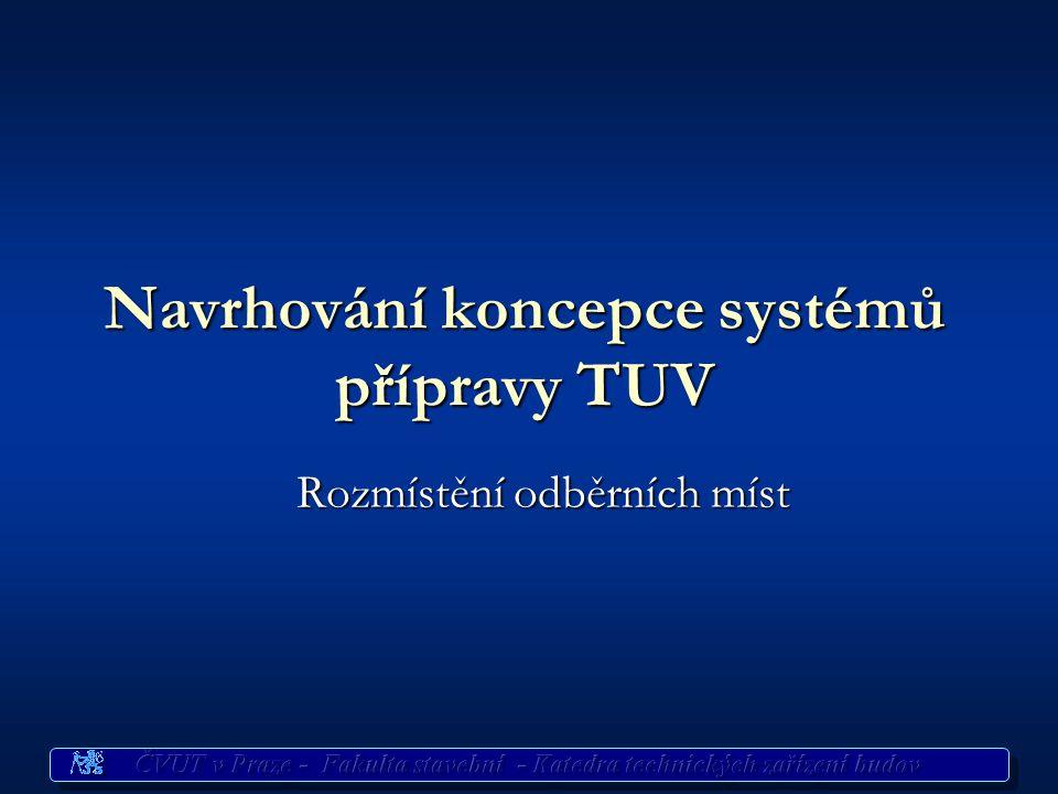 Navrhování koncepce systémů přípravy TUV
