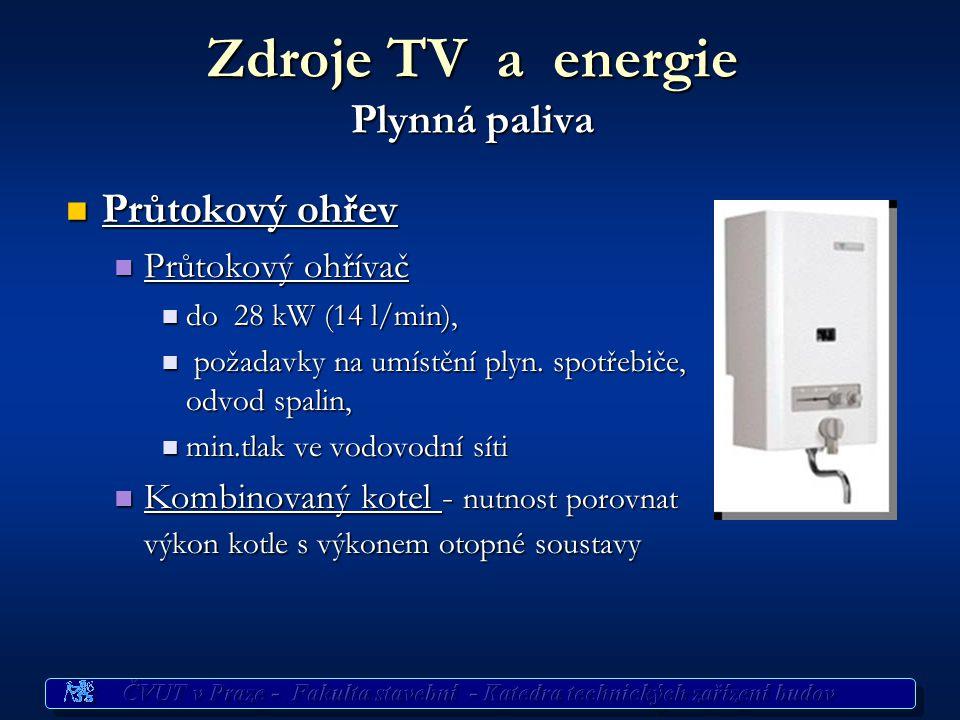 Zdroje TV a energie Plynná paliva