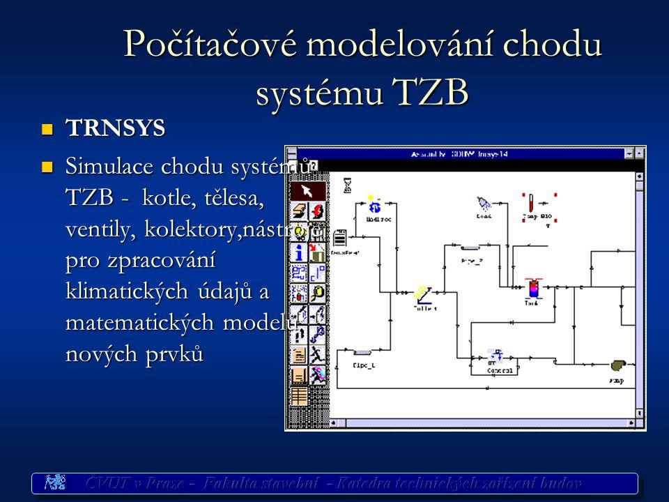 Počítačové modelování chodu systému TZB
