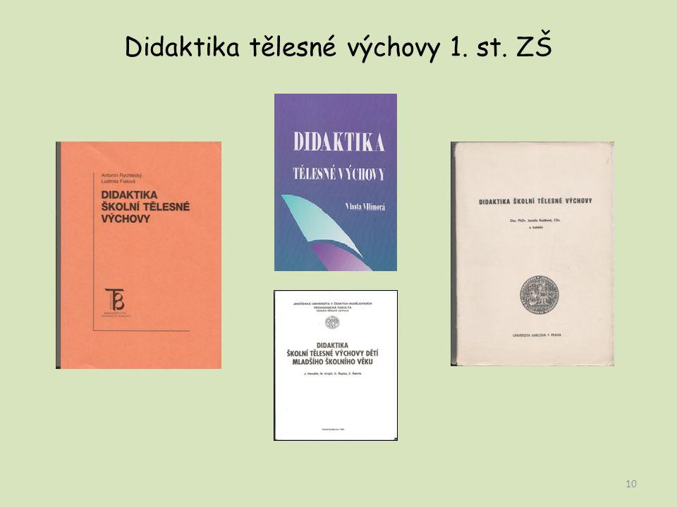 Didaktika tělesné výchovy 1. st. ZŠ