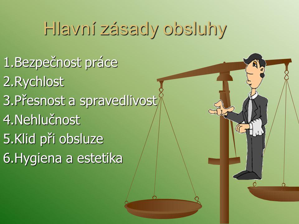 Hlavní zásady obsluhy 1.Bezpečnost práce 2.Rychlost