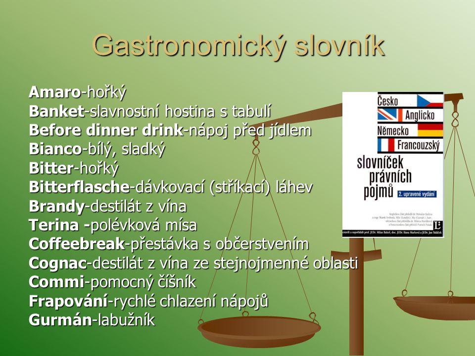 Gastronomický slovník