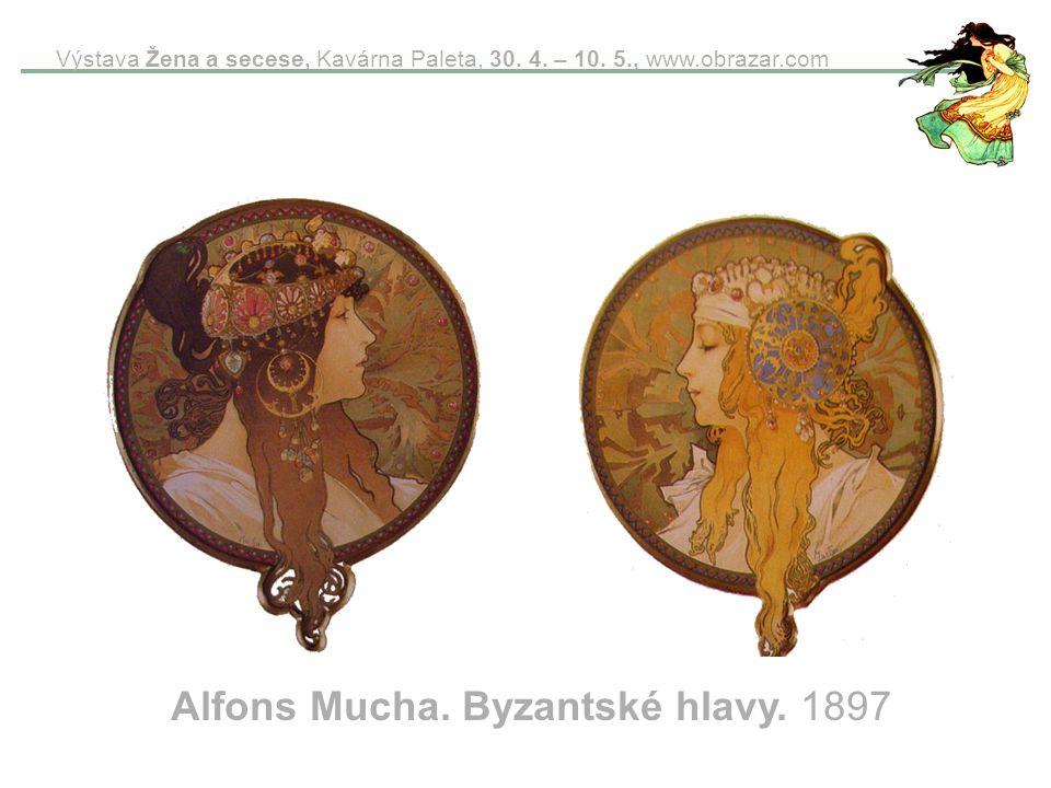Alfons Mucha. Byzantské hlavy. 1897