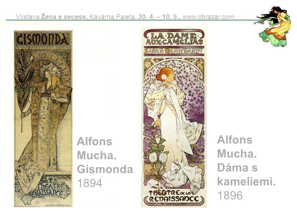 Alfons Mucha. Dáma s kameliemi. 1896