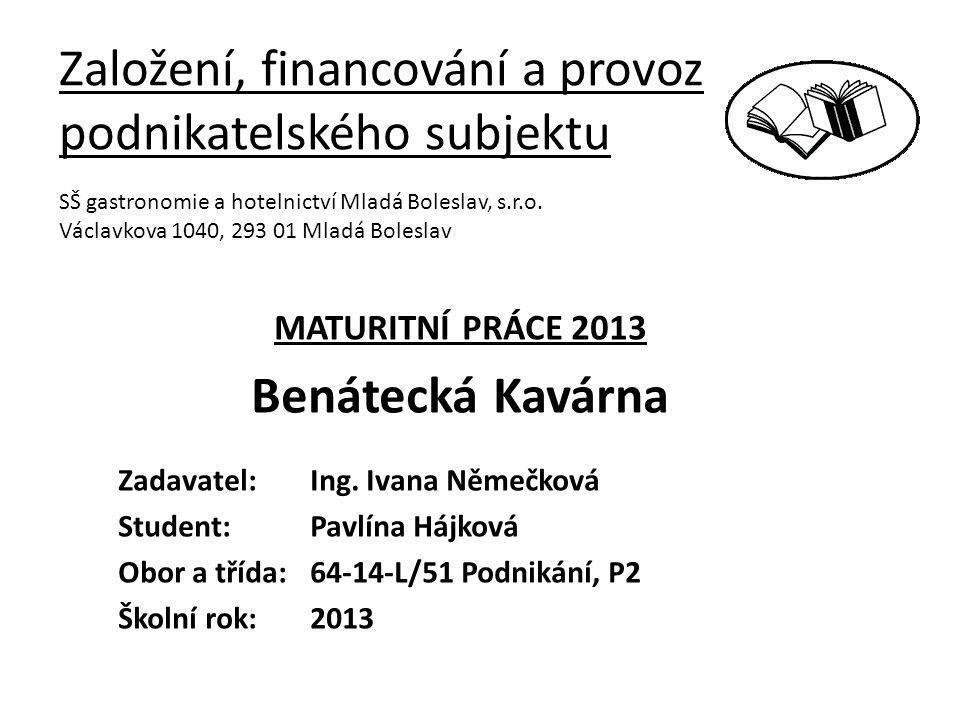 Založení, financování a provoz podnikatelského subjektu