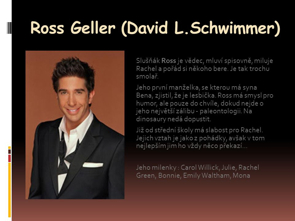 Ross Geller (David L.Schwimmer)