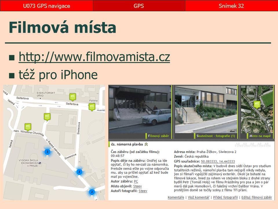 Filmová místa http://www.filmovamista.cz též pro iPhone
