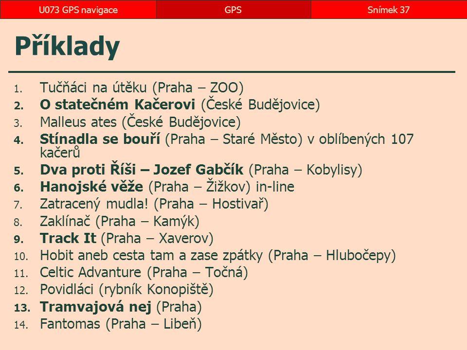 Příklady Tučňáci na útěku (Praha – ZOO)
