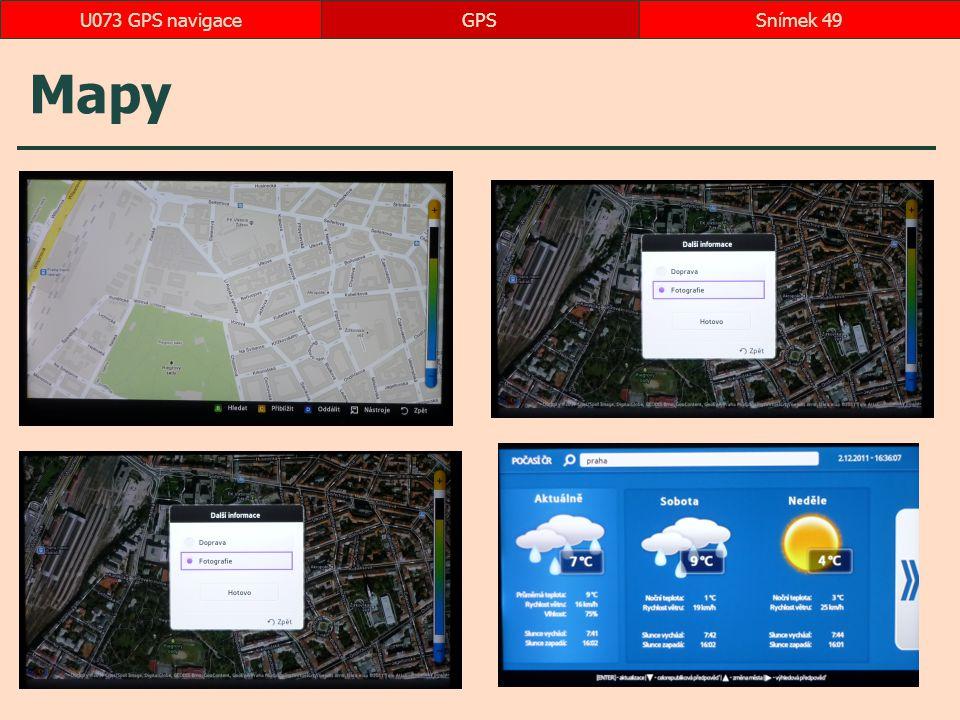 U073 GPS navigace GPS Mapy