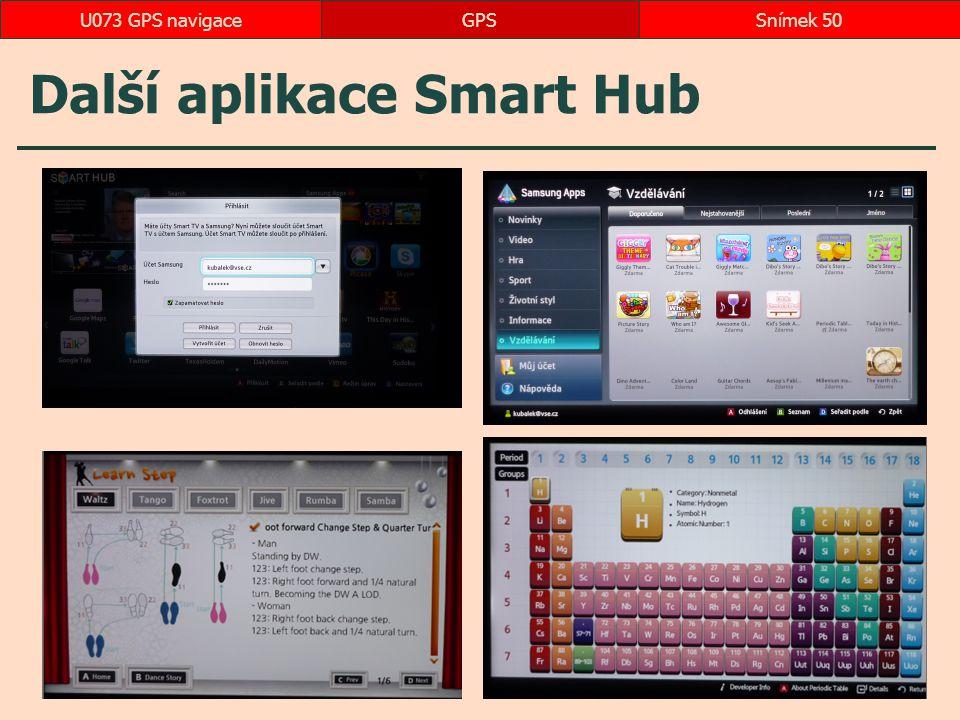Další aplikace Smart Hub