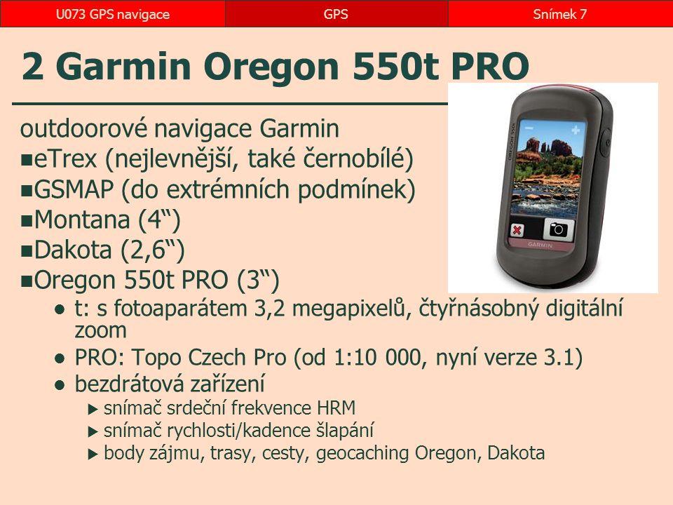 2 Garmin Oregon 550t PRO outdoorové navigace Garmin