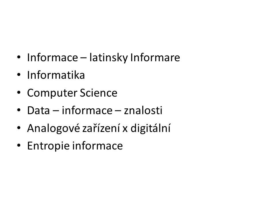 Informace – latinsky Informare