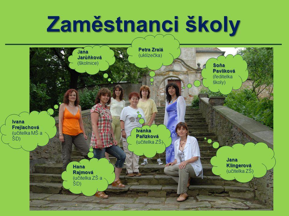 Zaměstnanci školy Petra Zralá Jana Jarůňková (uklízečka) (školnice)