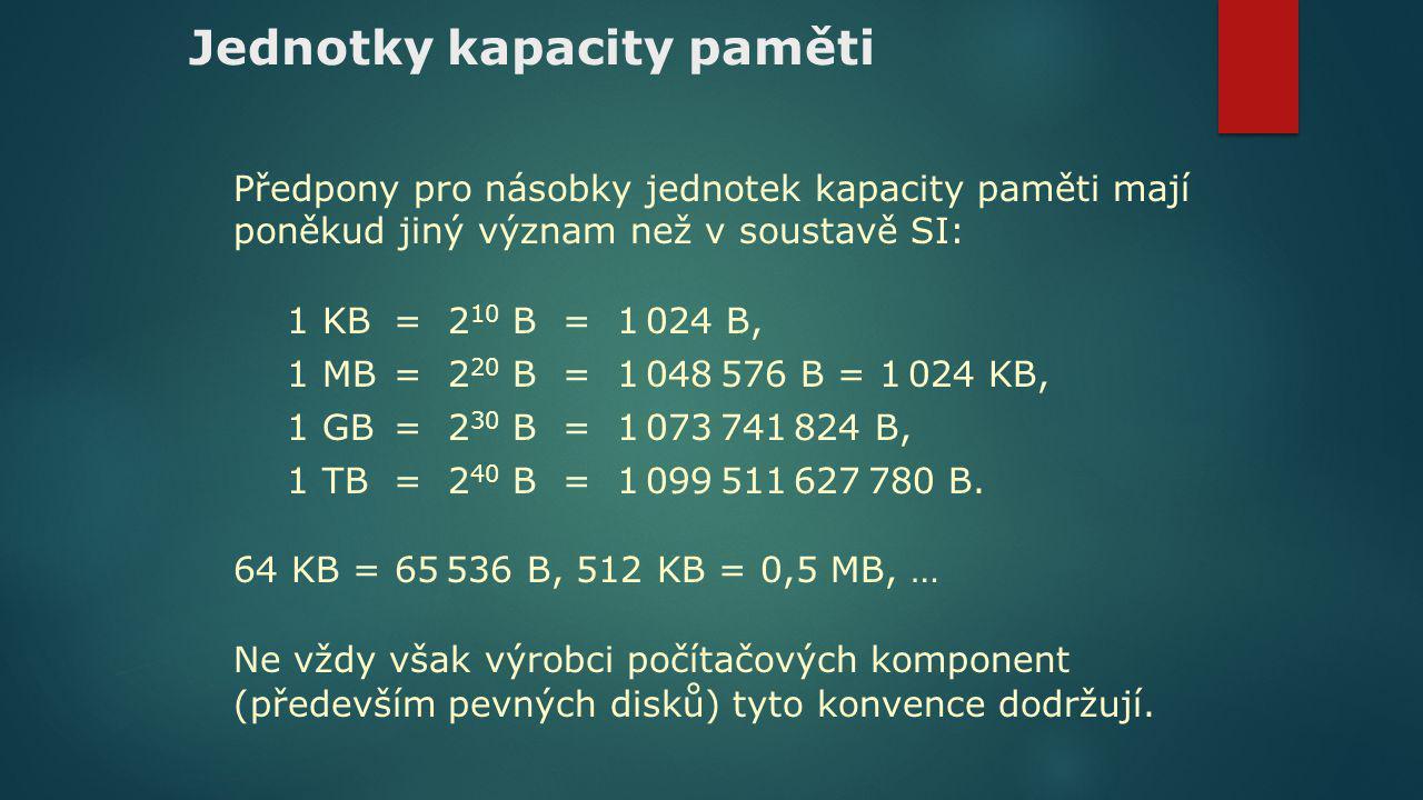 Jednotky kapacity paměti