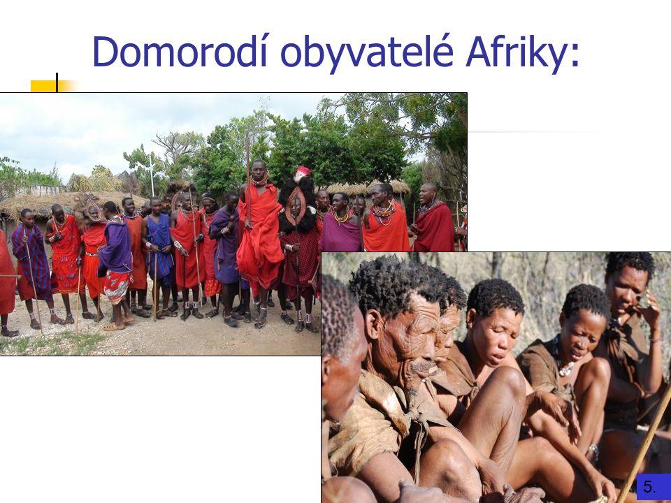 Domorodí obyvatelé Afriky:
