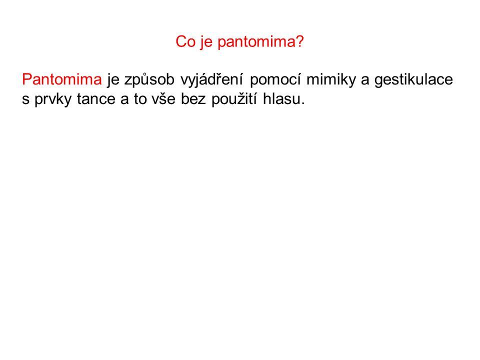 Co je pantomima.