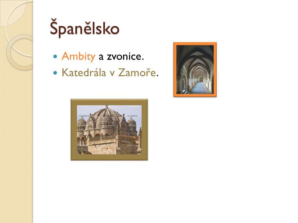 Španělsko Ambity a zvonice. Katedrála v Zamoře.