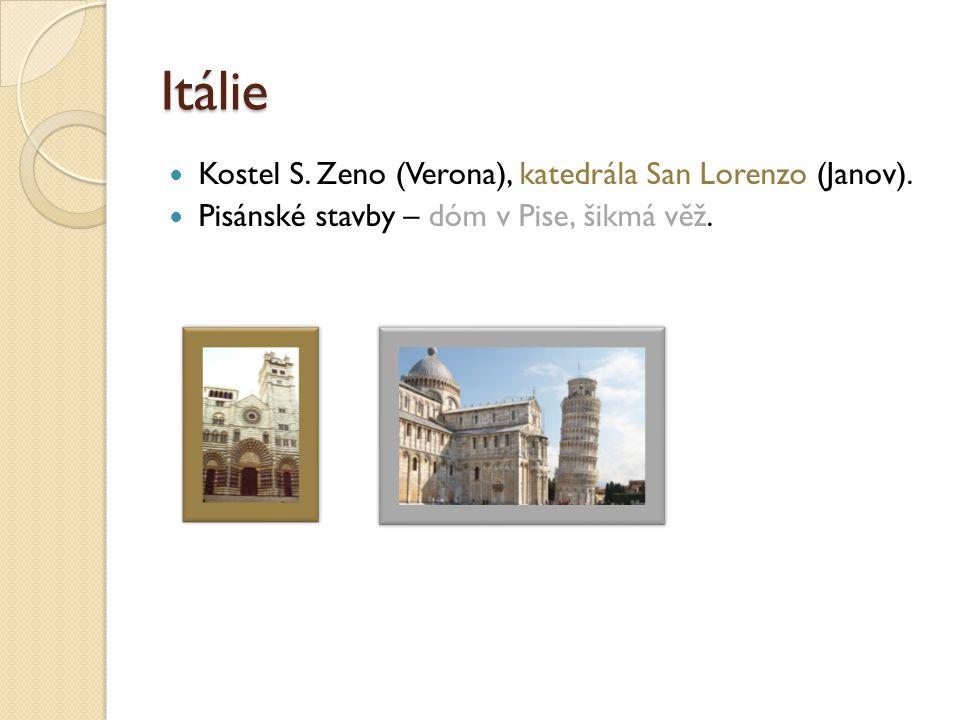 Itálie Kostel S. Zeno (Verona), katedrála San Lorenzo (Janov).