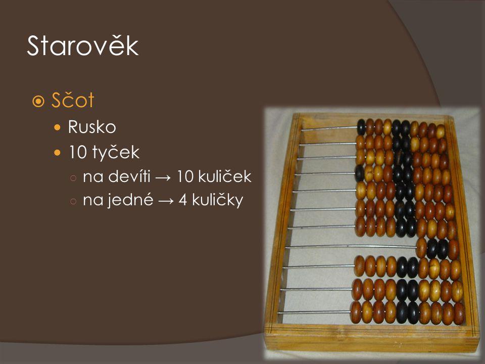 Starověk Sčot Rusko 10 tyček na devíti → 10 kuliček