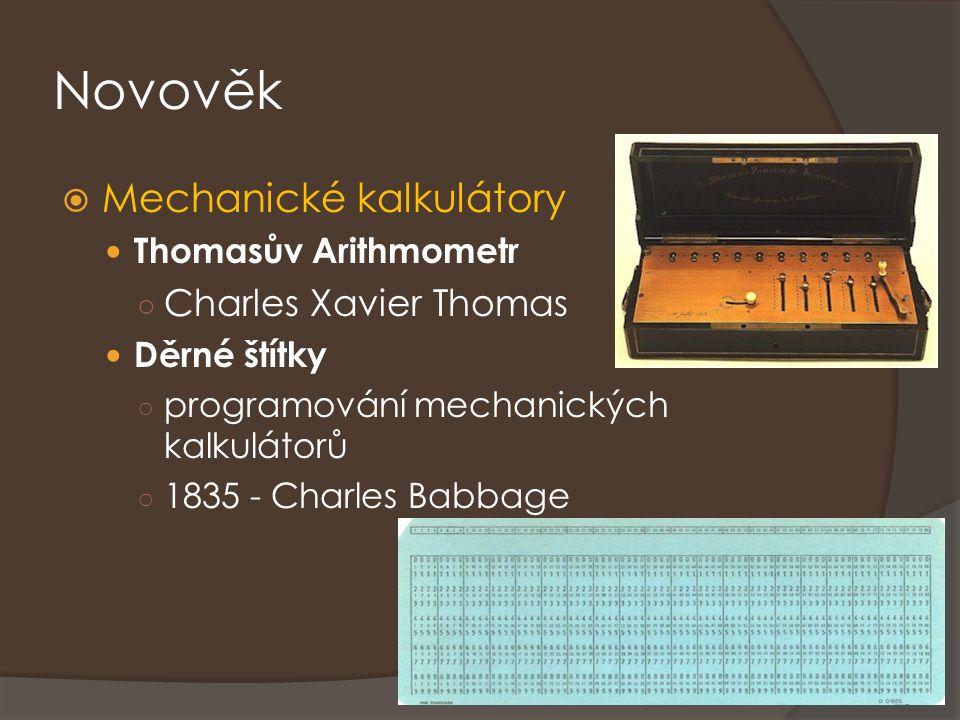 Novověk Mechanické kalkulátory Charles Xavier Thomas
