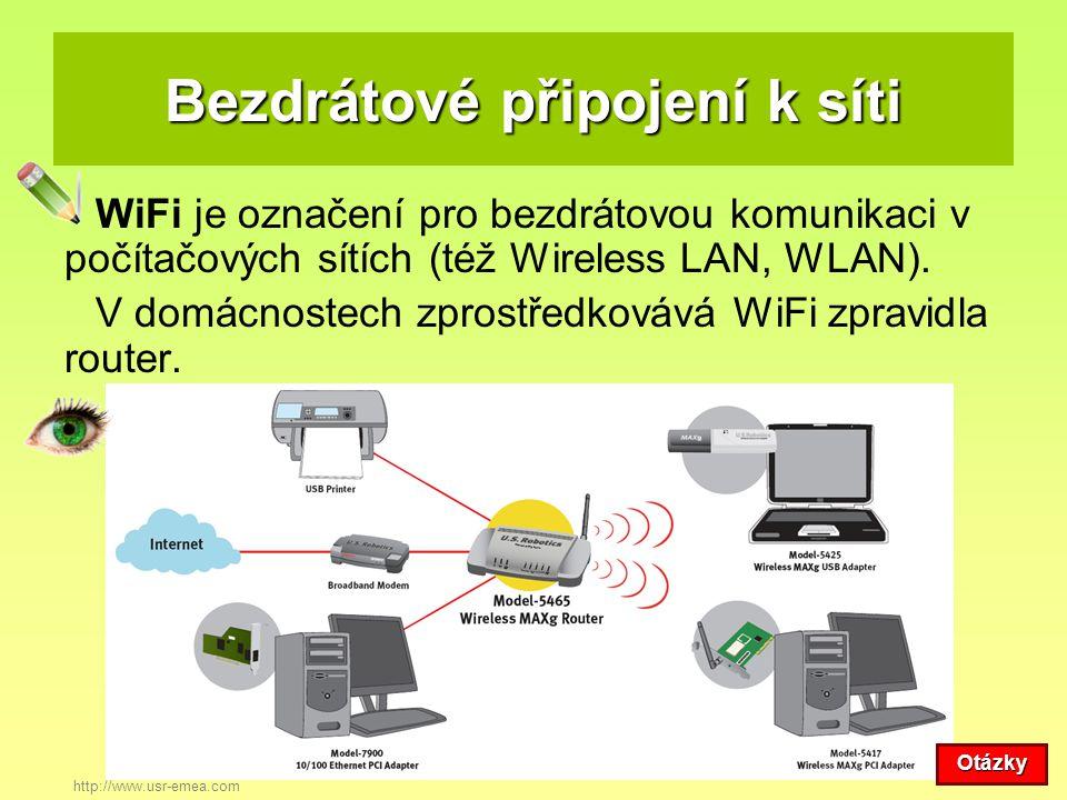 Bezdrátové připojení k síti