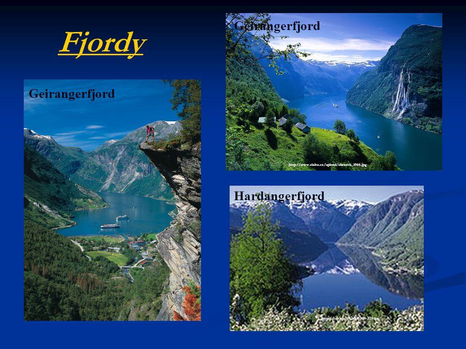 Fjordy Geirangerfjord Geirangerfjord Hardangerfjord