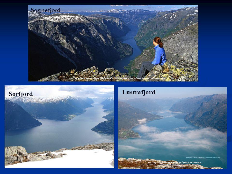 Sognefjord Lustrafjord Sorfjord ,