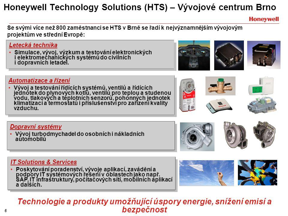 Honeywell Technology Solutions (HTS) – Vývojové centrum Brno