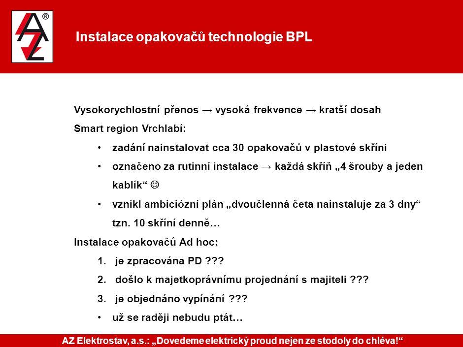 Instalace opakovačů technologie BPL