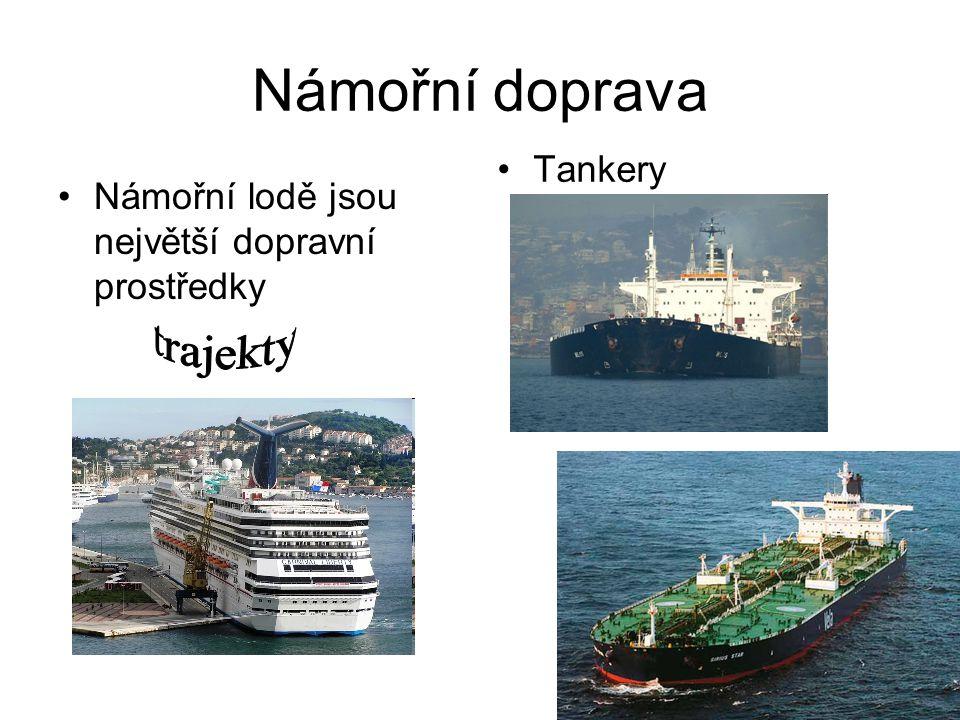 Námořní doprava trajekty Tankery
