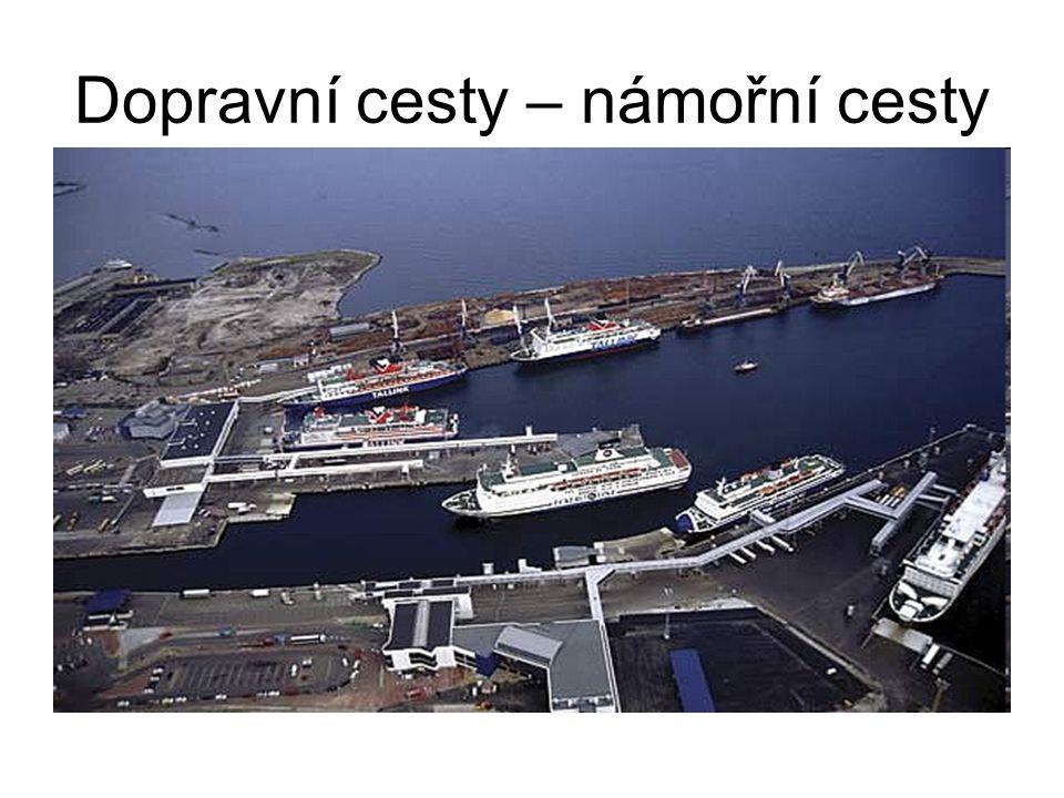 Dopravní cesty – námořní cesty