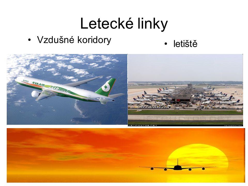 Letecké linky Vzdušné koridory letiště
