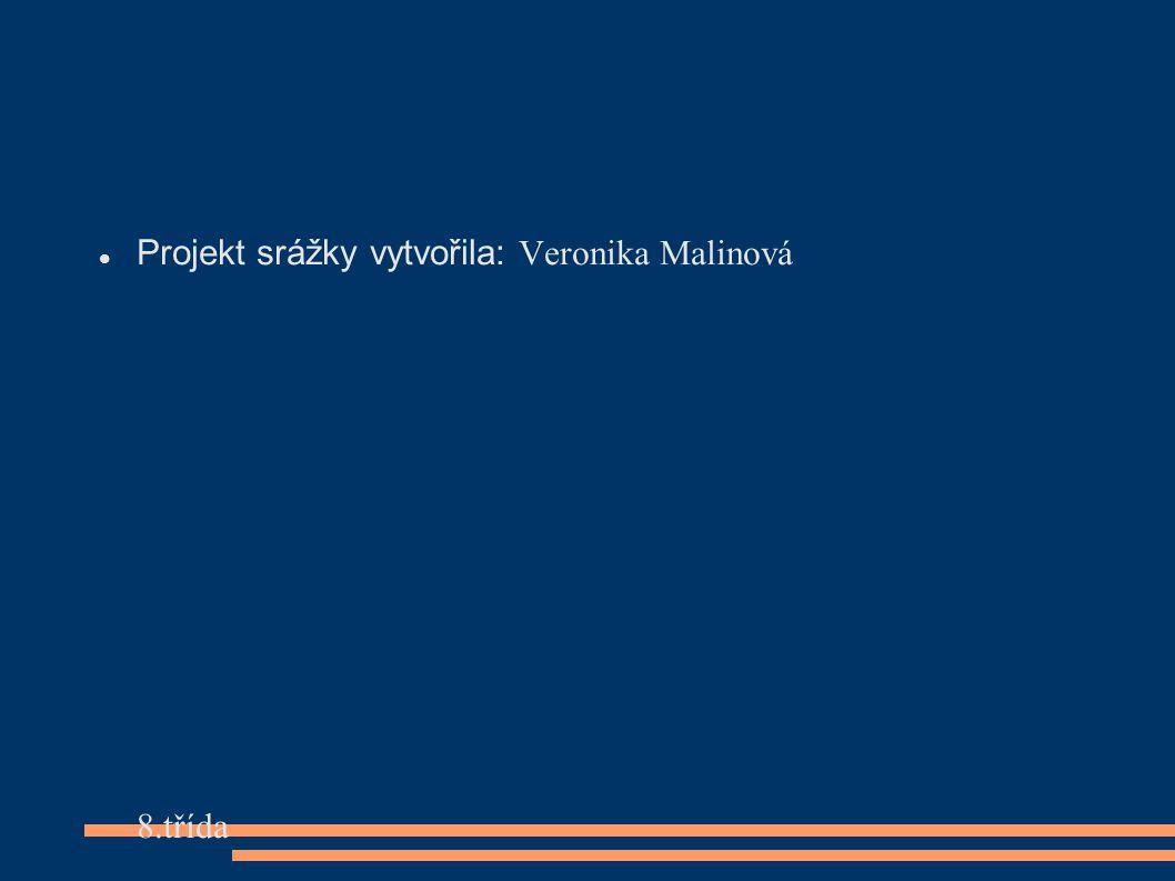 Projekt srážky vytvořila: Veronika Malinová 8.třída 19.9.2012