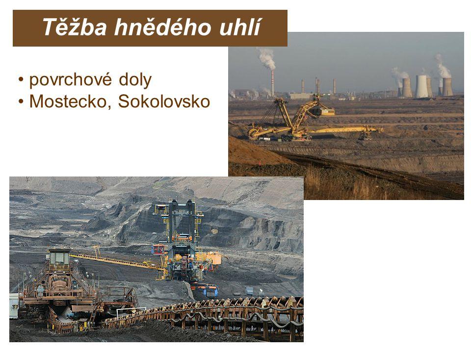 Těžba hnědého uhlí povrchové doly Mostecko, Sokolovsko