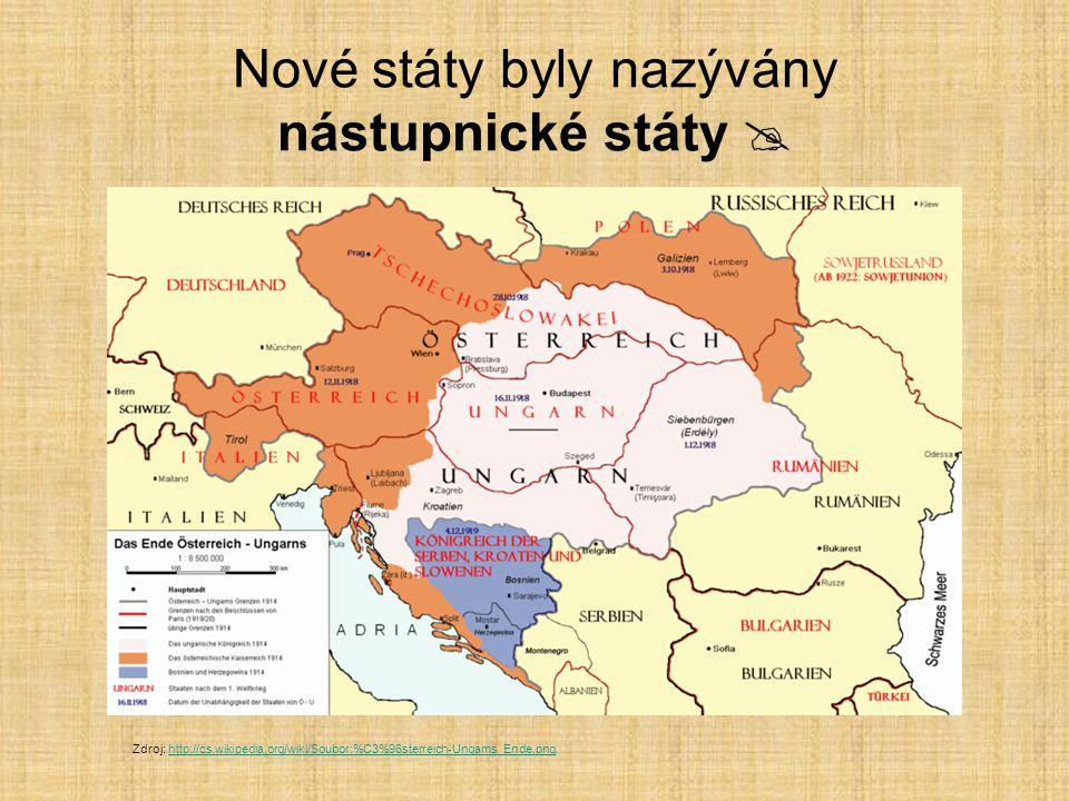 Nové státy byly nazývány nástupnické státy 