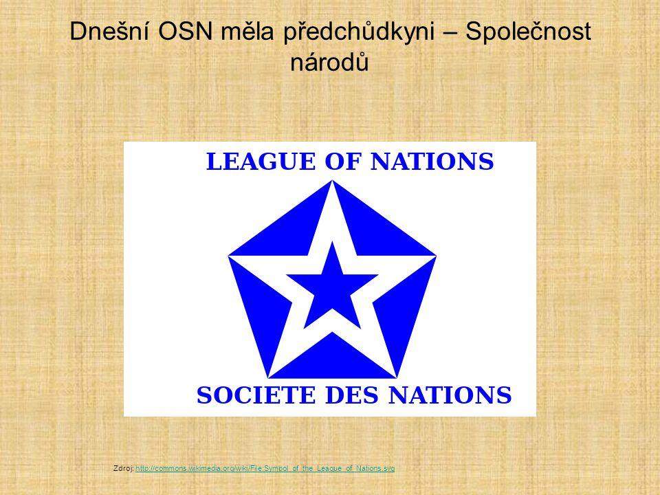 Dnešní OSN měla předchůdkyni – Společnost národů