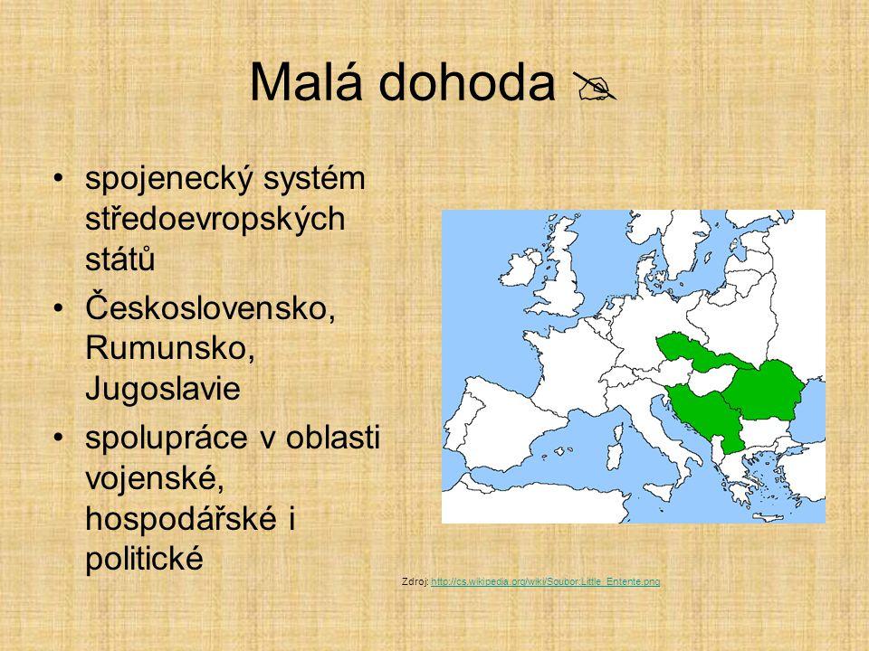 Malá dohoda  spojenecký systém středoevropských států
