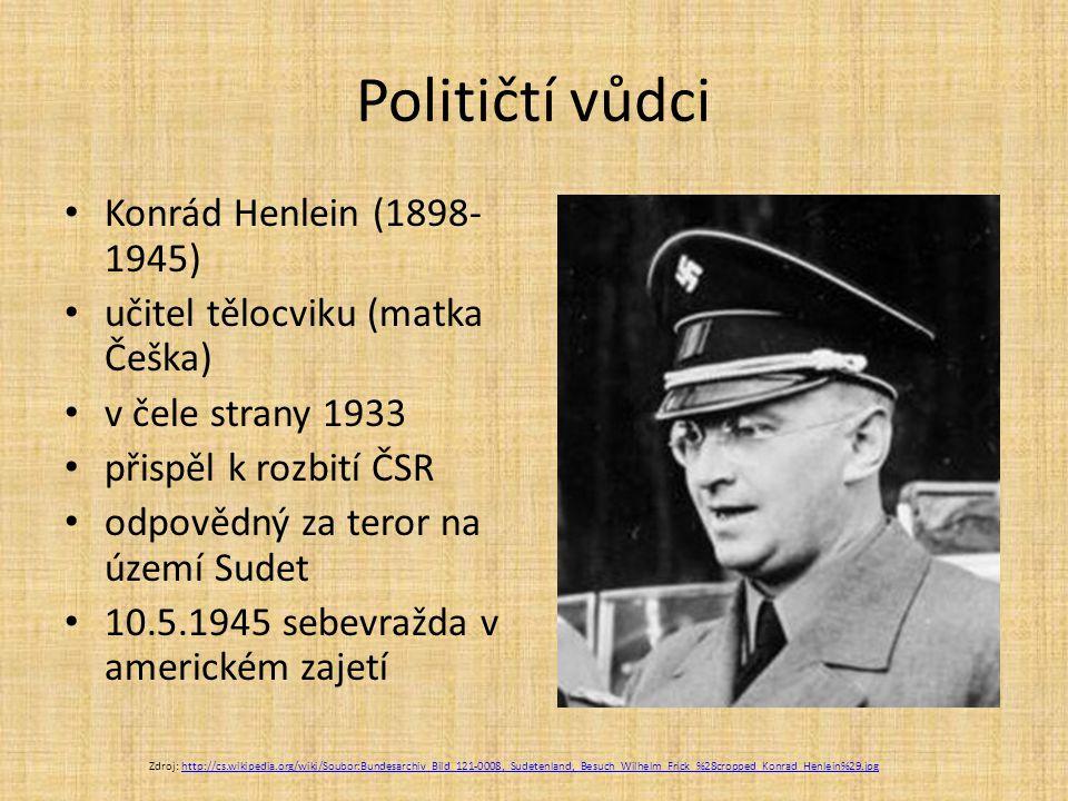 Političtí vůdci Konrád Henlein (1898-1945)