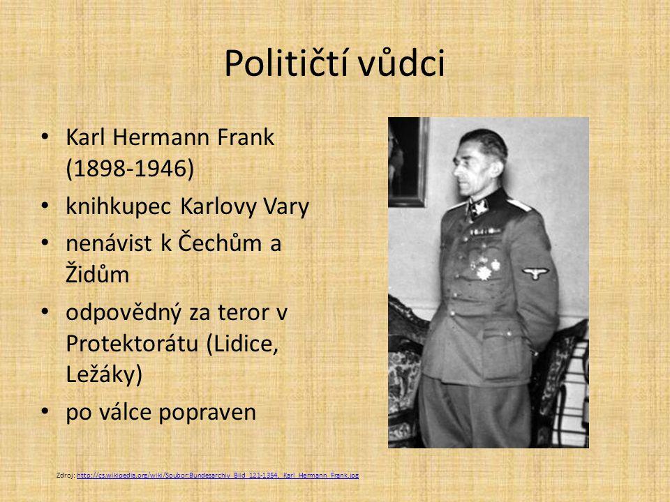Političtí vůdci Karl Hermann Frank (1898-1946) knihkupec Karlovy Vary