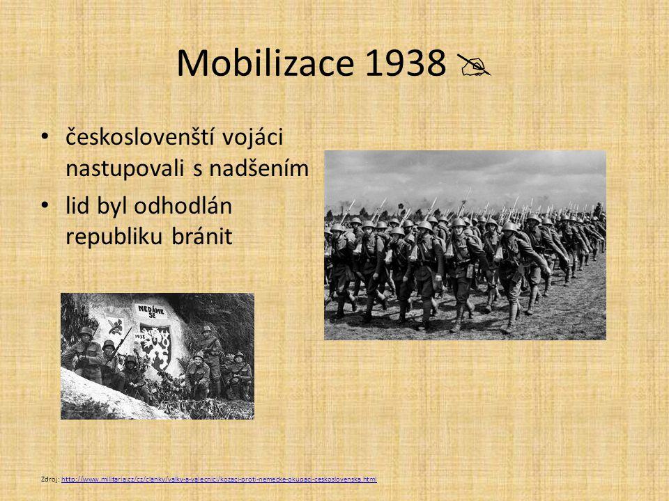 Mobilizace 1938  českoslovenští vojáci nastupovali s nadšením