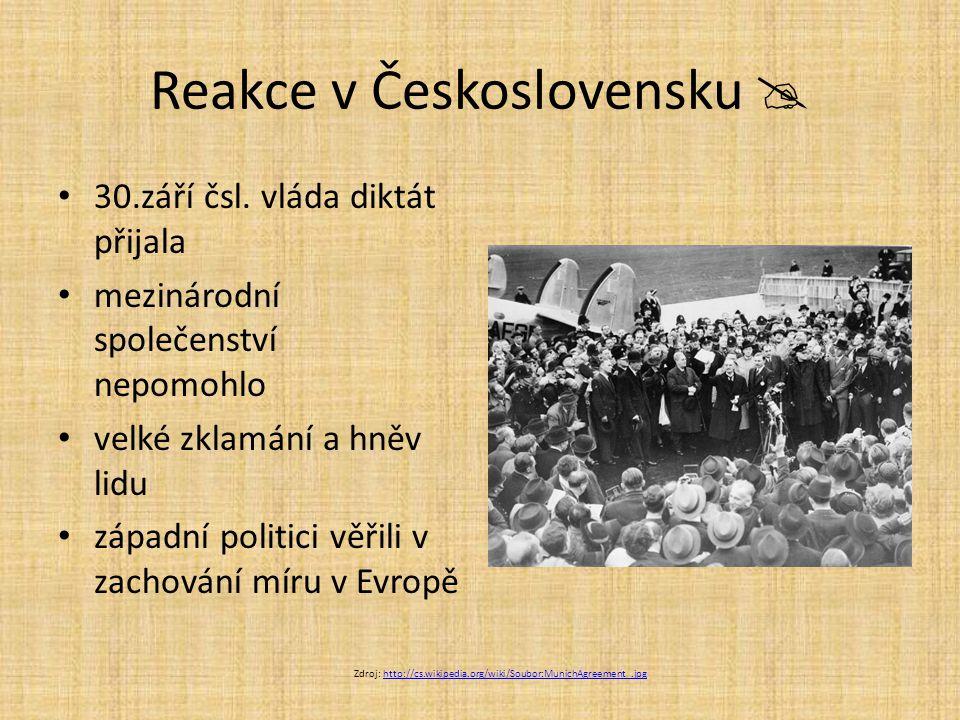Reakce v Československu 