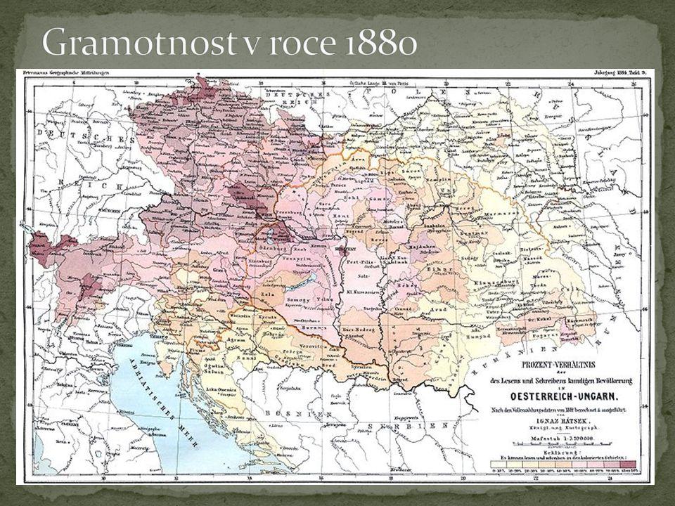Gramotnost v roce 1880