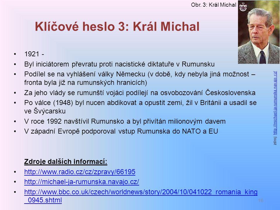 Klíčové heslo 3: Král Michal