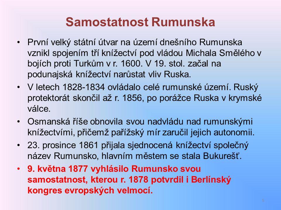 Samostatnost Rumunska
